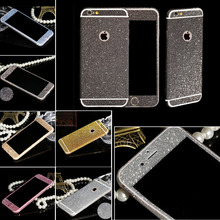 NEW Sparkling Rhinestone Deco Phone 9 Colors Bling Diamond Sticker Film For Apple iPhone 5 5S SE Full Body Glitter Sticker