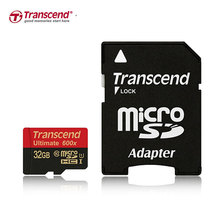 Transcend Memory Card 32GB 600X MicroSD MicroSDHC Micro SD SDHC Card Up To 90MB/S  UHS-1 TF Card 32GB With Adapter