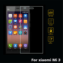 9H Premium High clear Tempered Glass Screen Protector For Xiaomi 3 mi 3 No finger prints Protective film 5 inch