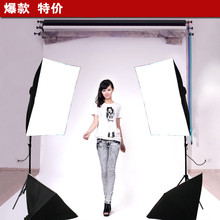 photo light KIT photographic equipment Photo Studio kit Video Four lamp Holder Lighting 50*70cm Softbox+2m light stand CD50