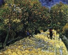 Online Art Gallery Vincent Van Gogh Handmade oil paintings Avenue with Flowering Chestnut Trees High quality