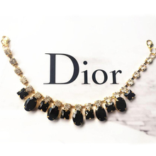 Black Custom Necklace Collar Decorative Rhinestones Chain DIY Clothing Accessories Ornaments Sewing On Applique For Dress(China)