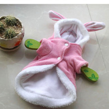 Cute Big rabbit ear Halloween Dog puppy costume clothing winter warm fleece small dog pet cat Coat jacket chihuahua dog clothes