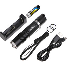 Powerful LED Flashlight 18650 High Power Cree XML2 1000LM Torch Light Pocket Light Penlight Camping,Cycling+18650Battery+Charger(China)