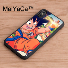 MaiYaCa Goku Kid Dragonball New For iPhone X Case Soft Rubber Skin Case For Apple iPhone X TPU Cover Capa(China)
