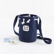 Fashion New Mini Drawstring Bucket Canvas Small Cute Women Messenger Bags Simple Female Crossbody Shoulder Bag Handbag Purses