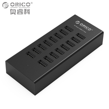 ORICO USB HUB 16 Ports Industrial USB2.0 Hubs USB Duplicator with 12V2.5A Power Adapter for Apple Macbook Air Laptop PC Tablet(China)