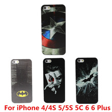 Marvel Hero Captain America Design Case Cover For Apple iPhone 4 4S 5 5S SE 5C 6 6S 7 Plus 6S Plus