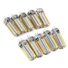 10pcs 9W LED Pin Lamp Bulb SMD3014 With G4 Base G4 9W LED Lamp For Chandelier 104 LED Lamp AC 220V White/Warm Light SMD 3014