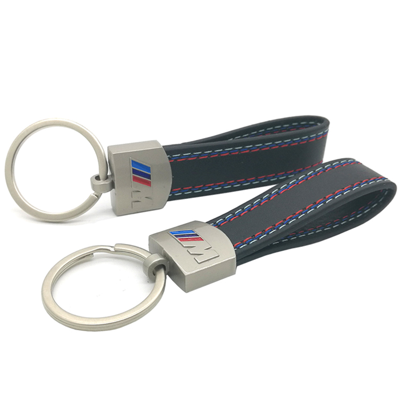 Fashoin Metal+Leather Car Keychain Key Chain Key Ring Keyring BMW M Tech M Sport M3 M5 X1 X3 E46 E39 E60 F30 E90 F10 F30 E36