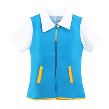 Pokemon Ash Ketchum Trainer Female Male Coat Jacket Costume Tops Cosplay Coat