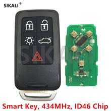 SIKALI Smart Remote Key for Volvo XC60 S60 S60L V40 V60 S80 XC70 434Mhz with ID46 Chip Car Remote Control Door Locking(China)