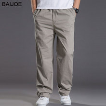 BAIJOE 2017 new spring casual Pants men cargo pants cotton loose trousers mens pants overalls fashion super large XL-6XL