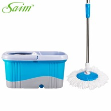 New Mop Bucket Magic Spin Mop Bucket Double Drive Hand Pressure With 1 Microfiber Mop Head Household Floor Cleaning Tools