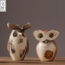 2016 Nordic wood ornaments creative Owl home accessories wedding decoration Desktop Accessories,beautiful gift