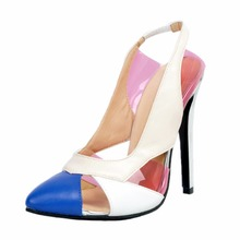 White Pink Shoes Woman High Heel Pointed Toe Ladies Pumps Lingbacks Fashion Designer Women Shoes