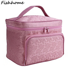 Peony Floral Big Cosmetic Bag Women Waterproof Professional Toiletry Kit Wash Necessaire Travel Organizer Make up Bags SZL63