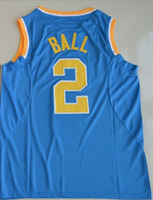 SexeMara Lonzo Ball #2 UCLA Bruins White Blue Stitched College tees University Basketball Jersey Any Name and Letter