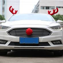 Merry Christmas Auto Car Fabric Decoration Gift DIY Your Car Home New Design Creative Antlers Support US Overseas Warehouse
