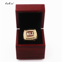 High Quality Factory Price Alabama Red Tide Storm National League Champion Ring Replica and Ring Wooden Box Quick Delivery(China)