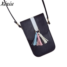 2017 New Arrive Women Mini Messenger Bag Shoulder Bags Cute Leather Ladies Pouch Fashion Universal Mobile Phone Pocket Case(China)