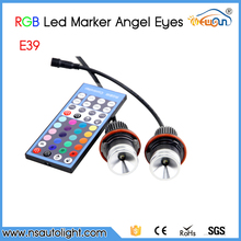 RGBW IR Remote Control E39 24W led angel eye For BMW X3 X5 E39,E53,E60,E61,E63,E64,E65,E83,E87 replacement Led marker(China)