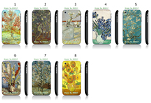 Cool Style Oil Painting White Hard Plastic Case Cover for iPhone 3 3GS