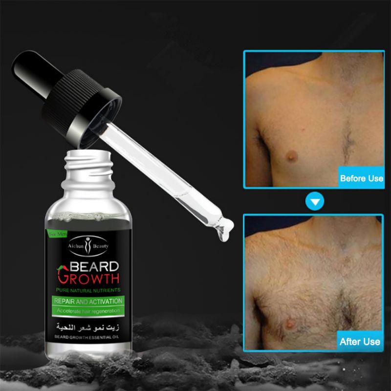 Professional Men Beard Growth Enhancer Facial Nutrition Moustache Grow Beard Shaping Tool Beard care products 5