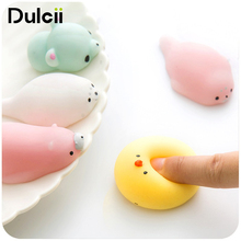 DULCII 3D Seal Lions Cute Mini Soft Silicone Squishy Phone Straps Slow Rising Fidget Hand Squeeze Press Doll Toy for iPhone X(China)