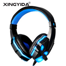 XINGYIDA Glowing Gaming Headset Deep Bass Game Headphone 3D Stereo Sound Headband Earphone fone de ouvido With MIC for Gamer