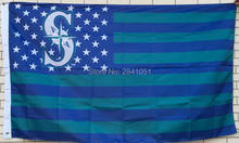 Seattle Mariners USA Star and Stripes Team American Outdoor Indoor Hockey Baseball Flag 3X5 Custom USA Any Team Flag