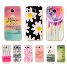 "Pattern Rubber TPU Soft Case For LG Google New Nexus 5X Angler 2015 5.2"" Back Skin Cover Cell Phone Protect ShockProof Bag"