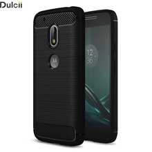 Dulcii Sell Case for Motorola Moto G4 Play Mobile Phone Bag Carbon Fibre Brushed TPU Phone Cases for Moto G 4 Play Cover Shell(China)
