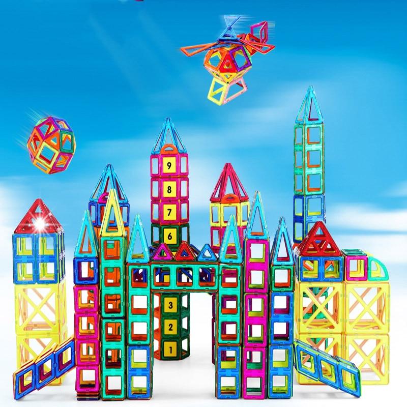 Sale!!! Mini Magnetic Designer Building Blocks Kids Toys Magnet Game Technic Plastic 3D DIY Bricks Children Enlighten Blocks<br><br>Aliexpress