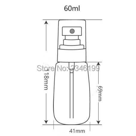 Plastic Spray Bottle 30ml Tranparent Empty Lotion Pump 60ml Plastic Pink Spray Empty Bottle Plastic Emulsion Pump (8)