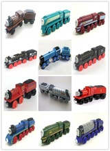 17 styles NEW thomas &TRUCK Original Thomas And Friends Wooden Magnetic Railway Model Train Engine Boy / Kids Toy Christmas Gift(China)