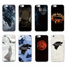 For iPhone 7 7Plus 6 6S 6Plus 8 8Plus X 5 5S SE Game Thrones Wolf  Soft TPU Phone Case Cover Coque Fundas For SAMSUNG