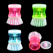 Kitchen Brushes Easy Dish Washing Up  Scrubbing Cleaning Brush Liquid Detergent