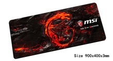 900x400x3mm msi mouse pad High-end pad to mouse notbook computer mousepad gaming padmouse gamer Fashion keyboard mouse mat(China)