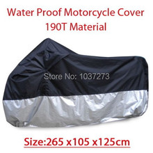 Big Size 265*105*125cm Motorcycle Covering Waterproof Dustproof Scooter Cover UV resistant Heavy Racing Bike Cover wholesale