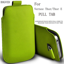 BOGVED PU Leather Case For Vernee Thor Thor E Pull Tab Bag Case Cover Shield