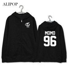 ALIPOP Kpop TWICE MOMO Sana Mina Album Zipper Hoodie K-POP Cotton Hoodies Clothes Pullover Printed Long Sleeve Sweatshirts WY415