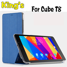 "High Quality PU Leather Case Cover For 8"" CUBE T8 T8s T8 plus T8 Ultimate Tablet PC With 3 Free Gifts"