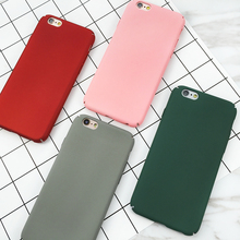 Buy Simple fashion Solid Color Funda Letter Case Matte Hard Cover Capa Coque Fundas iPhone 7 6s 6 Plus 5 5S Plastic Phone Case for $1.34 in AliExpress store