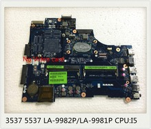 For Dell 3537 5537 Laptop Motherboard LA-9982P LA-9981P Mainboard with I5 CPU 100% Tested Good working(China)