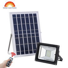 15W 30LEDs Outdoor Solar Light for Billboard Football Field Park Garage Emergency IR Remote Control Dimmable Solar Flood Light(China)