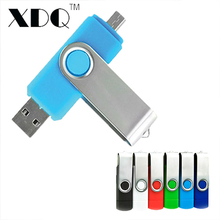 Two site mobile phone OTG usb flash drive 8g 32g 64g 128gb high speed rotation usb flash memory pen drive usb stick gife