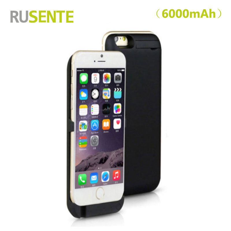 High quality Portable External Battery charger 6000mAh Power Case For iPhone 6 6S 4.7″ with Phone Holder Charger