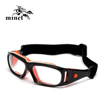 Mincl/ Sports eye safety protection glasses basketball soccer optical eyeglasses eye glasses spectacle frame eyewear can myopia(China)