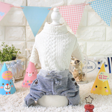 Kawaii Pet Shop Korean Style Dog Jumpsuits Rompers Pet Clothes Dog Pajamas Clothes for Dogs Couple Dog Clothes Hot Sale 16ZF46